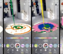 Spinning AR Paintings: AR Art Experience