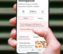 Tiendas de restaurantes virtuales: escaparate de DoorDash