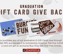 Tarjetas de regalo de apoyo para graduados: programa de devolución