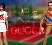 Diseñador Virtual Tennis Outfits: gucci y tennis clash