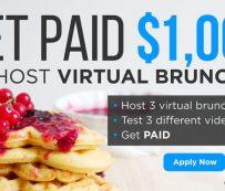 Competiciones virtuales de brunch: almuerzos virtuales