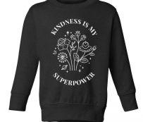 Suéteres contra el acoso: la bondad es mi superpoder