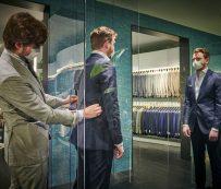 Tiendas de trajes de distancia: nuevas compras normales