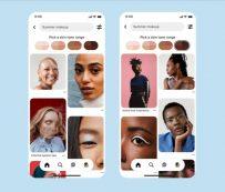 Filtros de RA realistas e inclusivos: Pinterest