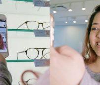 Pruebas de gafas virtuales en la tienda: pruébelas